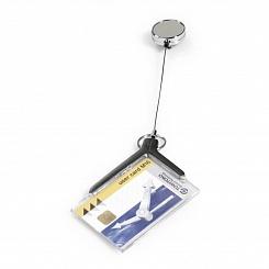 Держатель для пропуска Durable Card Holder Deluxe Pro, акрил, рулетка до 80 см, 54 x 85 мм